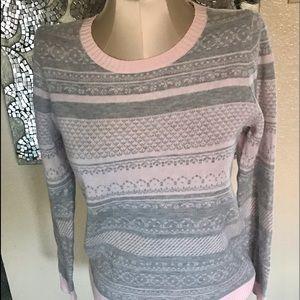 NWT Croft & Barrow crew neck pastel sweater PS